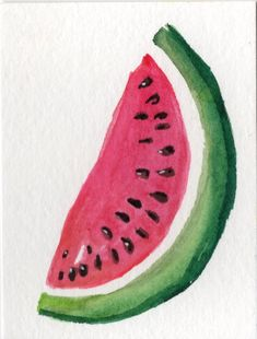 ACEO Watermelon Wate