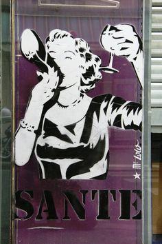 paris 10 - rue oberkampf - street art