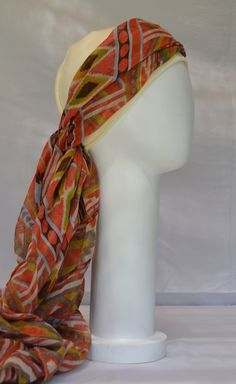 Turbante para quimioterapia/chemo scarf/ 100% algodon/ cómodos/ alegres Scarf, Headdress, Fashion, Turbans, Moda, Fashion Styles, Fascinators, Fashion Illustrations, Headpiece