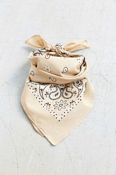 Shop 15 different takes on spring's must-have accessory, the bandanna. (And take a cue from the street style stars it's been on.)  Urban Outfitters Basic Bandanna, $5; urbanoutfitters.com