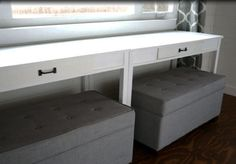Ana White | Desks that Convert to Table for our Tiny House on Wheels - DIY Projects