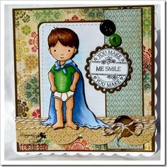 Card by Lis (DT). Whimsy and Stars Studio, rubber stamps and digital stamps.