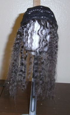 Sewing Box Designs: Making a Mohair Doll Wig: Putting it Together