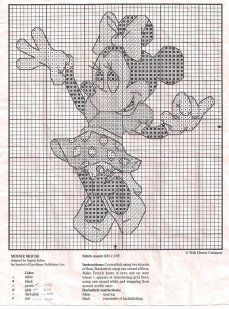 Minnie Mouse  -  charted for embroidery