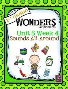 If you are already using or you are new to the Wonders Reading Program, this 75 page packet is for you.  This packet will help you teach the skills in Unit 5 Week 4 of 6.  You'll have  help with weekly lesson planning, printables for centers or word work activities, anchor charts, essential question posters, vocabulary and spelling practice, and much, much more.UNIT 5 WEEK Page 1  Weekly CoverPage 2  Table of ContentsPage 3-5  Working at HomeBUILDING THE CONCEPTPage 6  Essential Question…