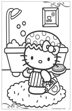Hello Kitty Coloring Pages Valentines Day Cupid