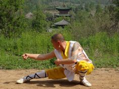 Drunken style with Shifu Shi Yan Jun. Training on the Academy's grounds inside the Shaolin Temple. www.kungfushaolins.com