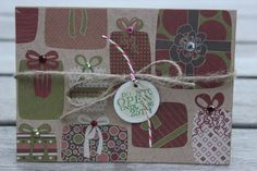 Christmas Presents Christmas Card, Kraft Gift Holiday Card, Do Not Open Christmas Card, Rustic Christmas Card by 19Designs on Etsy