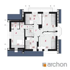 Dom w tamaryszkach 2 (P) Floor Plans, Houses, Floor Plan Drawing, House Floor Plans