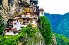 """HAPPINESS IS A PLACE""  Bhutanese tourism carefully manages the number of tourists coming to Bhutan. Travel right. https://www.theluxlabel.com/bhutan/"