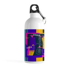 Circus Buddies Stainless Steel Water Bottle  ||   14oz Diameter, in 2.75 Height, in 9 Cap diameter, in 1.45 Hook length , in 2.16 Hydrating is essential, why not do it in style? This perfect size stainless st https://kirsteinfineart.myshopify.com/products/circus-buddies-stainless-steel-water-bottle?utm_campaign=crowdfire&utm_content=crowdfire&utm_medium=social&utm_source=pinterest