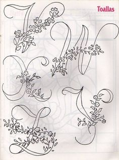 Awesome Most Popular Embroidery Patterns Ideas. Most Popular Embroidery Patterns Ideas. Embroidery Alphabet, Embroidery Monogram, Cross Stitch Alphabet, Silk Ribbon Embroidery, Hand Embroidery Patterns, Vintage Embroidery, Diy Embroidery, Cross Stitch Embroidery, Collages D'images