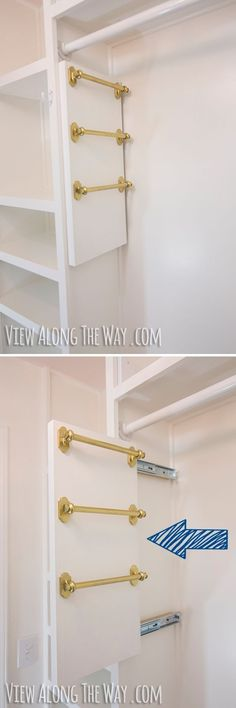 Maximize closet space by making your own slide out scarf and belt holders. | 51 Game-Changing Storage Solutions That Will Expand Your Horizons