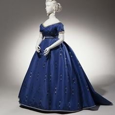 Dress ca 1865. France.silk, glass beads. Cora's evening gown for the opening of The Merry Maid's Revenge