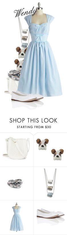 """Wendy Darling"" by polyspolyvore ❤ liked on Polyvore featuring Betsey Johnson, Disney Couture, Betsy & Iya and Repetto"