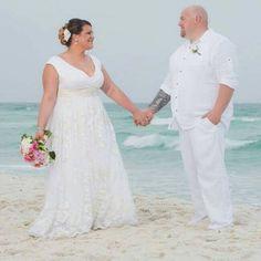 Plus Size Wedding Dress - beach wedding