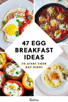 Tired of the same old egg recipes? We rounded up 47 egg breakfast ideas that'll help you get creative with your favorite morning staple Easy Egg Breakfast, Healthy Fast Food Breakfast, Slow Cooker Breakfast, Healthy Brunch, Egg Recipes For Breakfast, Breakfast Cooking, Brunch Recipes, Breakfast Ideas, Brunch Food