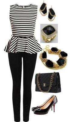 Peplum outfit lkkebtheboutfit except the heels