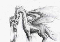 Finally, an accurate picture of Eragon and Saphira! She is probably relatively young in this picture though.