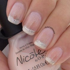 Two coats of NOPI Kim-Pletely in love and white tips with NOPI It's all about the glam