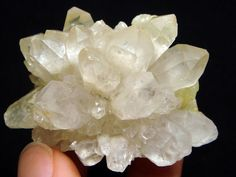 Prehnite on Quartz Crystal cluster rare  unusual by CoyoteRainbow, $20.00