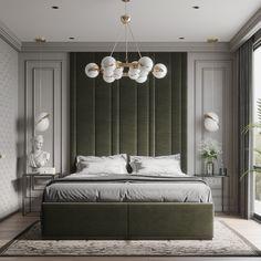 Simple neoclassic bedroom on Behance Modern Classic Bedroom, Modern Luxury Bedroom, Luxury Bedroom Design, Master Bedroom Interior, Room Design Bedroom, Bedroom Furniture Design, Home Room Design, Luxurious Bedrooms, Home Decor Bedroom