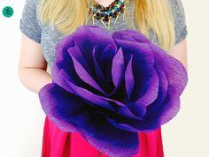 Мастер-класс: гигантские бумажные цветы на свадьбу
