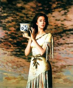 Beautiful Girls in Painting by Chinese Artist Xie Chuyu