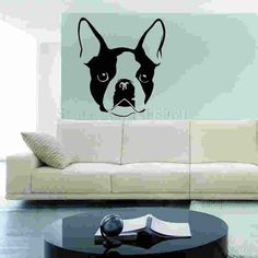 E663 Wall Stickers Home decor DIY poster mural Vinyl Decal Art Mural Nursery Wallpaper Animal Bulldog Pets Pet French