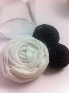 One Handmade White & Black Lollipop Rose Flower Hair by glamMKE, $6.00