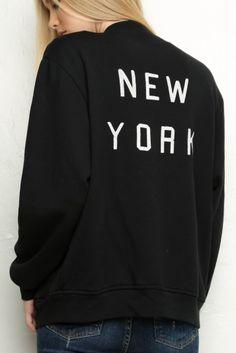 Brandy ♥ Melville | Elana New York Bomber Jacket