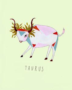 Fashion Illustration - Taurus- monstylepin #fashion #illustration #taurus #horoscope #astrology