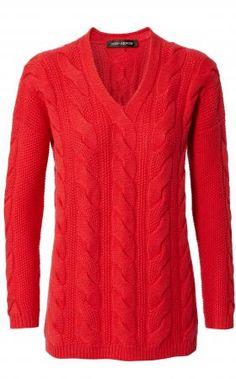 Iris von Arnim - Pullover Mansfield mit Zopfdetails und V-Ausschnitt aus 100% Cashmere Iris Von Arnim, Unger Fashion, Cashmere Pullover, We Wear, How To Wear, Dressing, Sweaters, Women, Inspiration