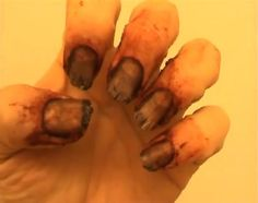 "The Unmanicure: Make your hands as ghastly as the rest of your costume with these DIY ""Nasty Nails."""