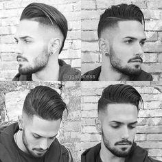 Mens Hair, Undercut with Comb Over Popular Mens Hairstyles, Cool Mens Haircuts, Cool Hairstyles For Men, Mens Hairstyles Pompadour, Hairstyles Haircuts, Hair And Beard Styles, Curly Hair Styles, Professional Haircut, Facial Hair