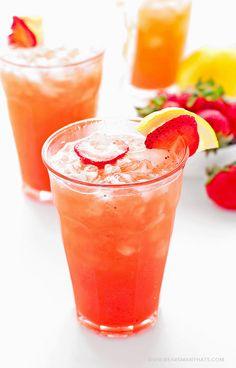 Strawberry Lemonade Recipe from @Amy Johnson / She Wears Many Hats