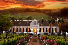 Grande Roche Hotel in Paarl, Western Cape Province, South Africa - Travel Republic Bungalows, Cape Dutch, Pergola, Dutch House, Small Luxury Hotels, Luxury Travel, Luxury Homes, Cape Town South Africa, Africa Travel