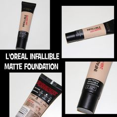 MichelaIsMyName: L'OREAL INFALLIBLE Matte Foundation REVIEW