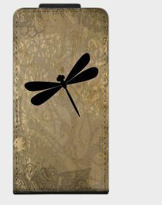"""Flip-Case """" Libelle """" von Zierrat auf DaWanda.com"""