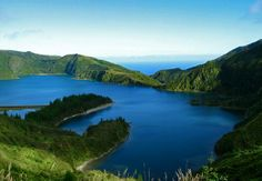 Azores, Portugal: Lake and ocean-- my two favorite things in one