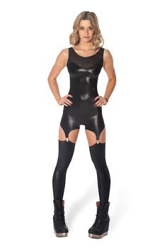 Kaboom Suspender Catsuit – LIMITED by Black Milk Clothing
