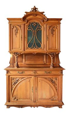 1878-1910 French Art Nouveaux Breakfront Server/ Sideboard on Chairish.com