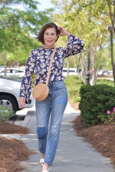 Pretty floral blouses are not just for dress-up anymore. I no longer save things for special occasions – every day is special. #mamabsays #getthelook #todaysdetails #wearitloveit #currentlywearing #lookoftheday #MyShopStyle