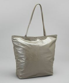 Take a look at this Metallic Gray Nora Tote by Latico Leather on #zulily today!