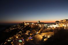 """Oia by night"" Santorini, Greece"