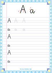 ecriture cursive - lettre a