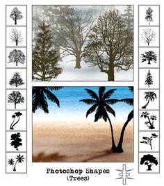Photoshop Tree Shapes