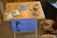 Creative ideas for helping kids learn about police officers. Great addition to a community helper theme in preschool or kindergarten.