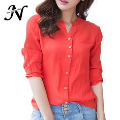 =>>Save onAutumn Shirts 2016 Casual Blouse Linen New Arrivals Korean Women's V Neck Top Red Long Sleeve Fashion Shirt Cotton For WomenAutumn Shirts 2016 Casual Blouse Linen New Arrivals Korean Women's V Neck Top Red Long Sleeve Fashion Shirt Cotton For WomenSave on...Cleck Hot Deals >>> http://id327519460.cloudns.pointto.us/32735615549.html images