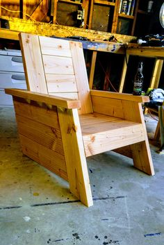 Wood Deck Chair By CBDWood On Etsy